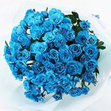 青バラ プリザーブドフラワーの画像
