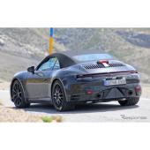 ポルシェ 911カブリオレ、灼熱の次期型テスト風景をスクープ