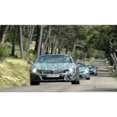 BMW i8 ロードスター、プロトタイプがアルプスでテスト…開発は最終段階に