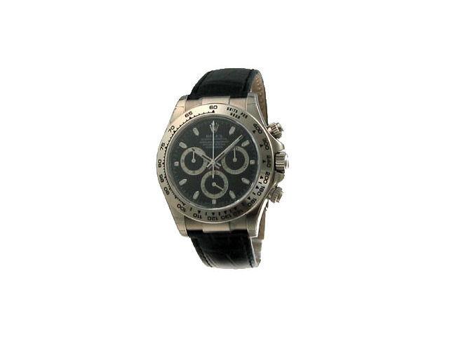 116519 デイトナ クロノグラフ 自動巻き(ブラック)ブラックレザーベルト の製品画像