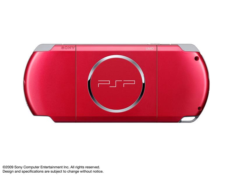 『本体 背面』 PSP プレイステーション・ポータブル ラディアント・レッド PSP-3000 RR の製品画像
