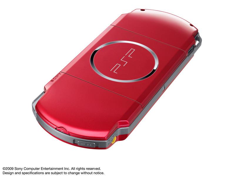 『本体 背面 斜め1』 PSP プレイステーション・ポータブル ラディアント・レッド PSP-3000 RR の製品画像