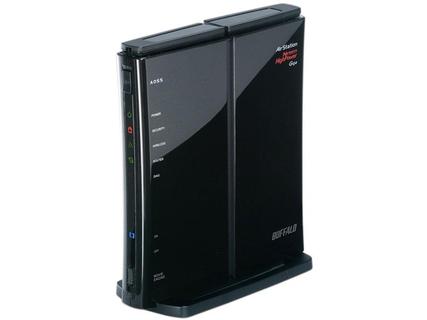 『本体 正面 斜め1』 AirStation NFINITI HighPower Giga WZR-HP-G300NH の製品画像