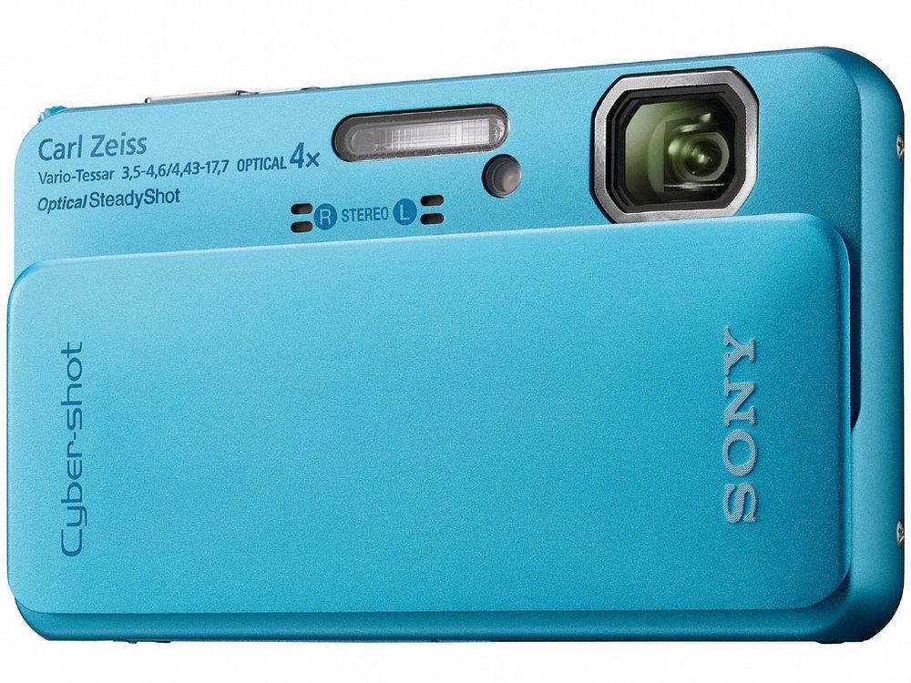 『本体 正面』 サイバーショット DSC-TX10 (L) [ブルー] の製品画像