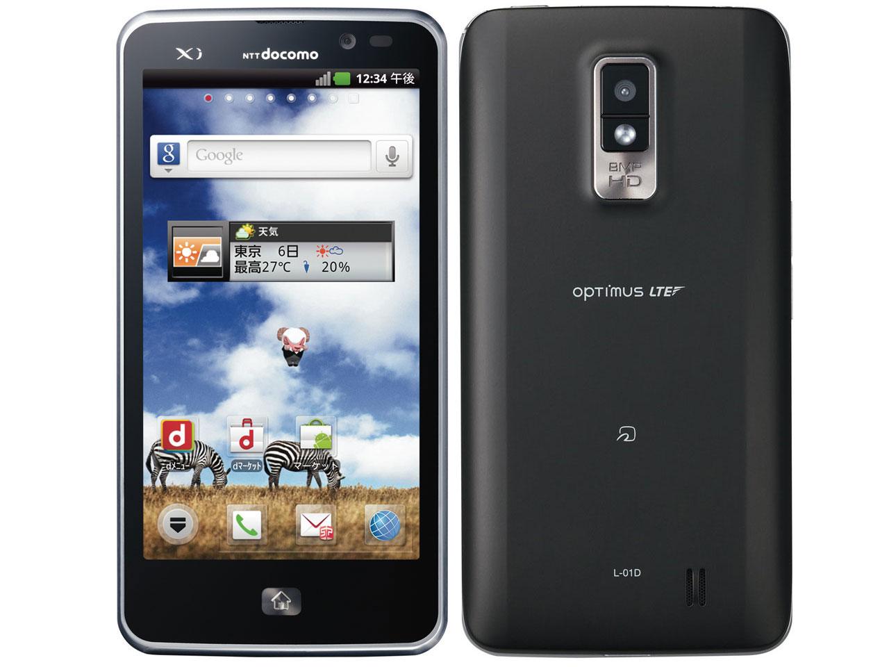 Optimus LTE L-01D docomo [Black] �̐��i�摜