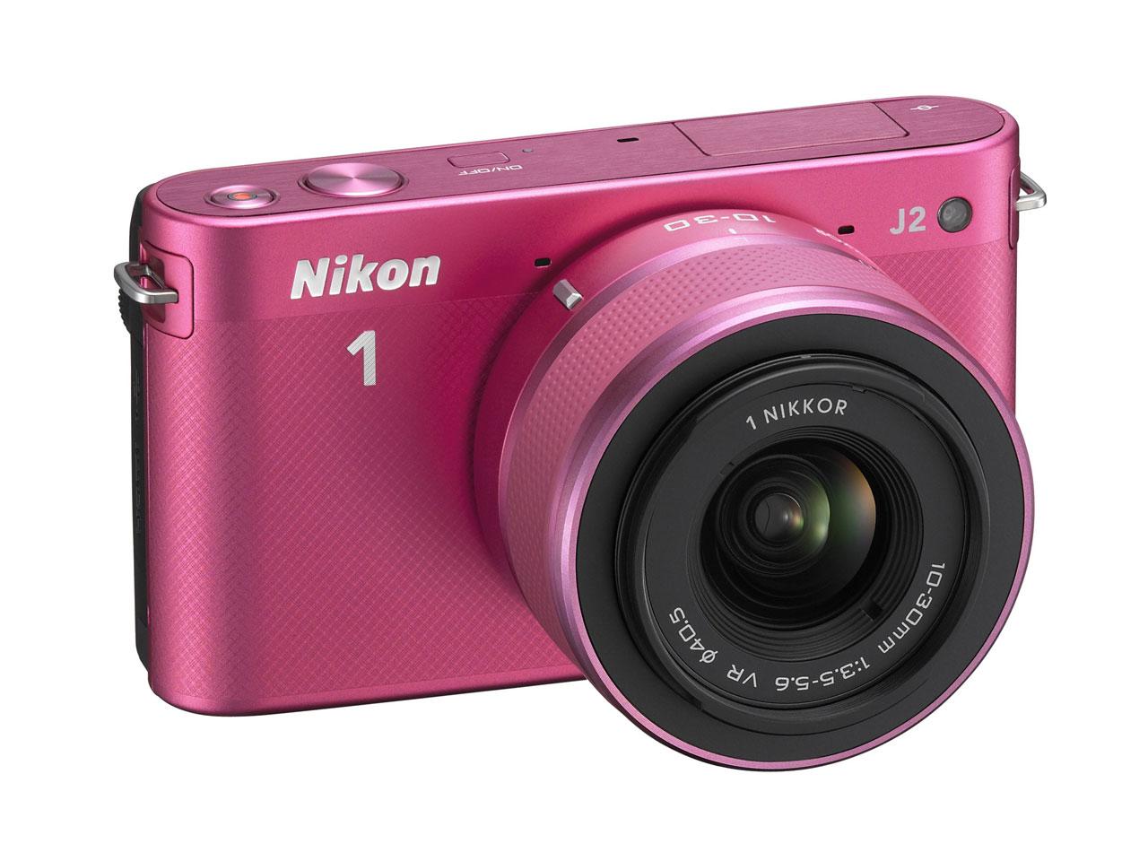 価格.com - 『本体 正面2』 Nikon 1 J2 ダブルズームキット [ピンク