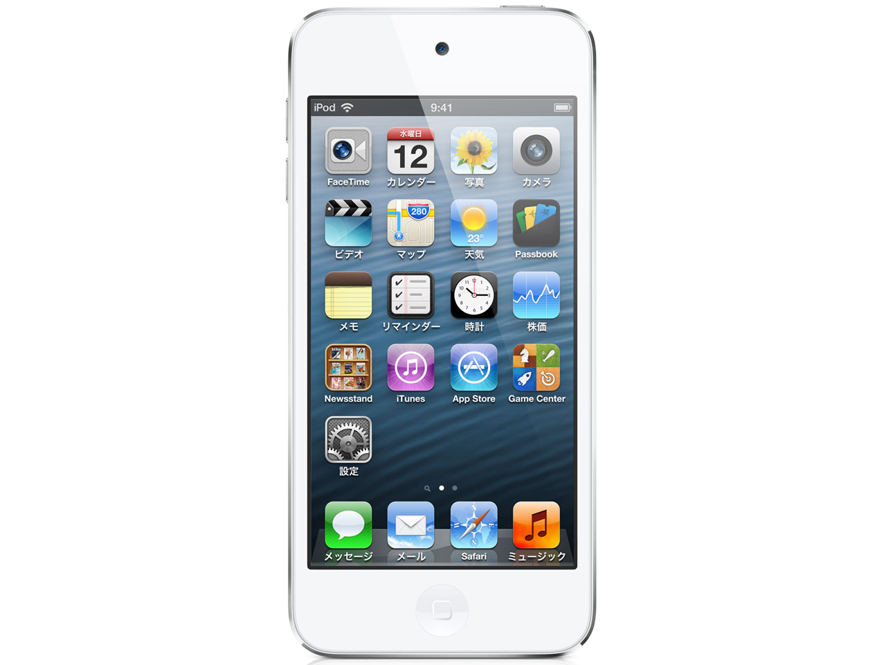 iPod touch MD720J/A [32GB �z���C�g&�V���o�[] �̐��i�摜