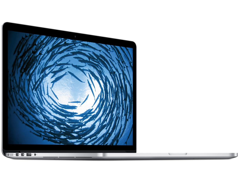 『本体 斜め』 MacBook Pro Retinaディスプレイ 2500/15.4 MGXC2J/A の製品画像