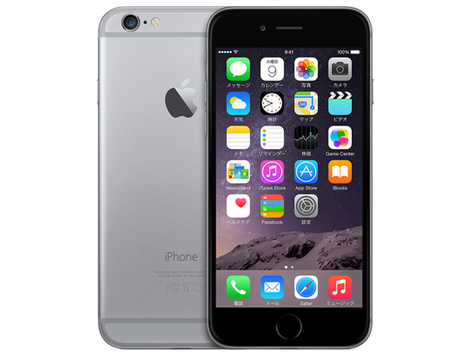 iPhone 6 16GB au [�X�y�[�X�O���C] �̐��i�摜