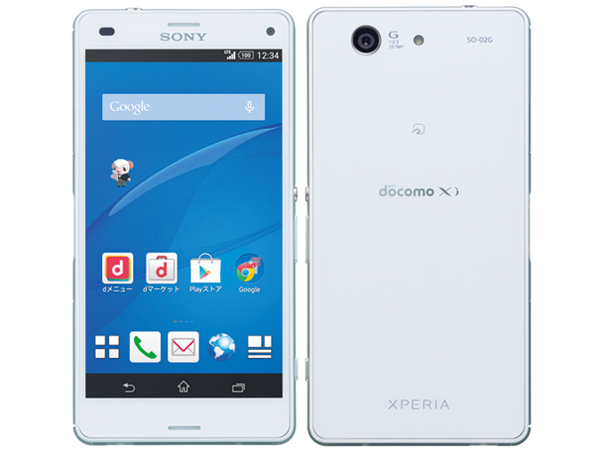 Xperia Z3 Compact SO-02G docomo [White] の製品画像