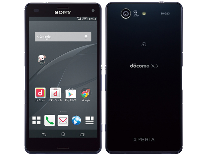 Xperia Z3 Compact SO-02G docomo [Black] の製品画像