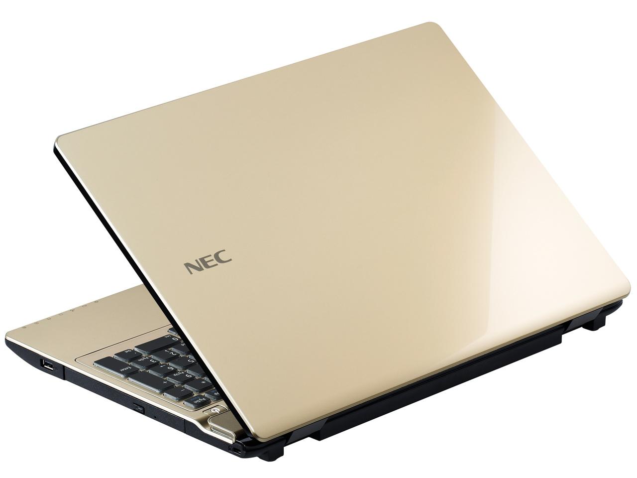 『本体 背面』 LaVie Note Standard NS750/AAG PC-NS750AAG [クリスタルゴールド] の製品画像