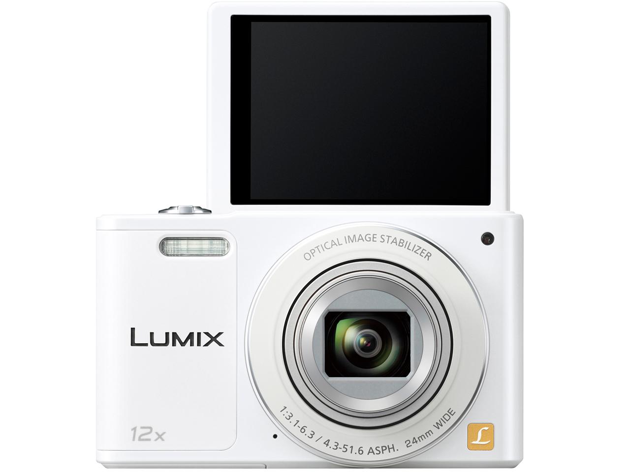 『本体 正面 バリアングル』 LUMIX DMC-SZ10-W [ホワイト] の製品画像