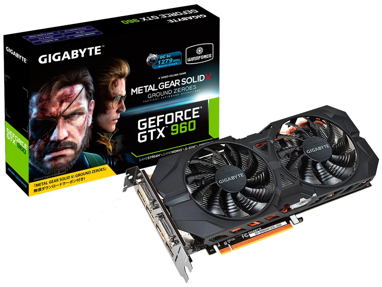 GV-N960WF2OC-2GD-GA [PCIExp 2GB] �̐��i�摜