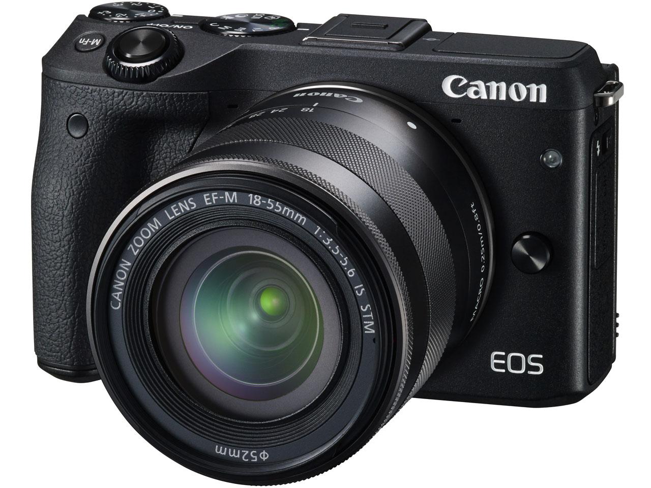 『本体 正面2』 EOS M3 ダブルズーム EVFキット [ブラック] の製品画像