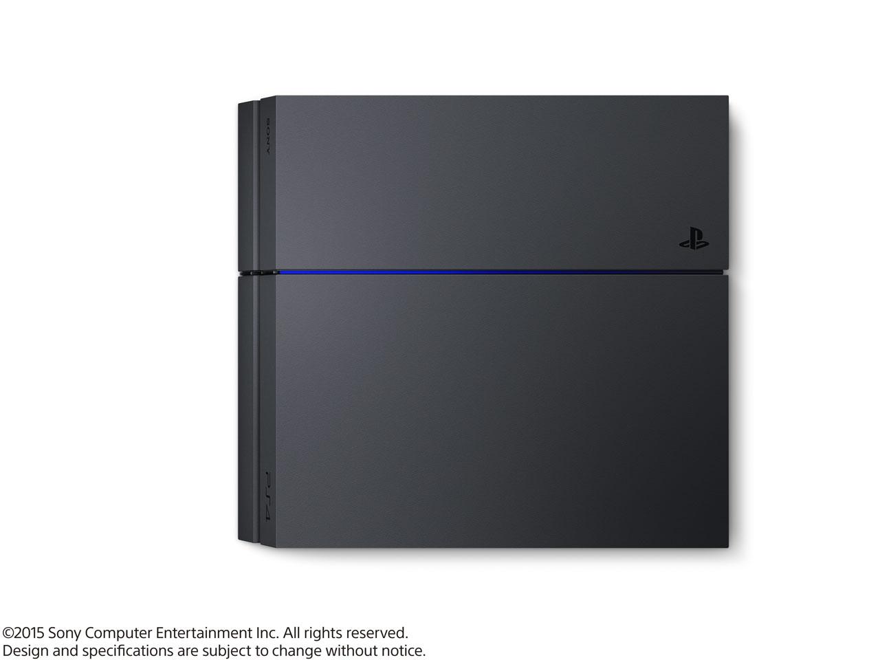 『本体 横置き 上面』 プレイステーション4 HDD 500GB ジェット・ブラック CUH-1200AB01 の製品画像