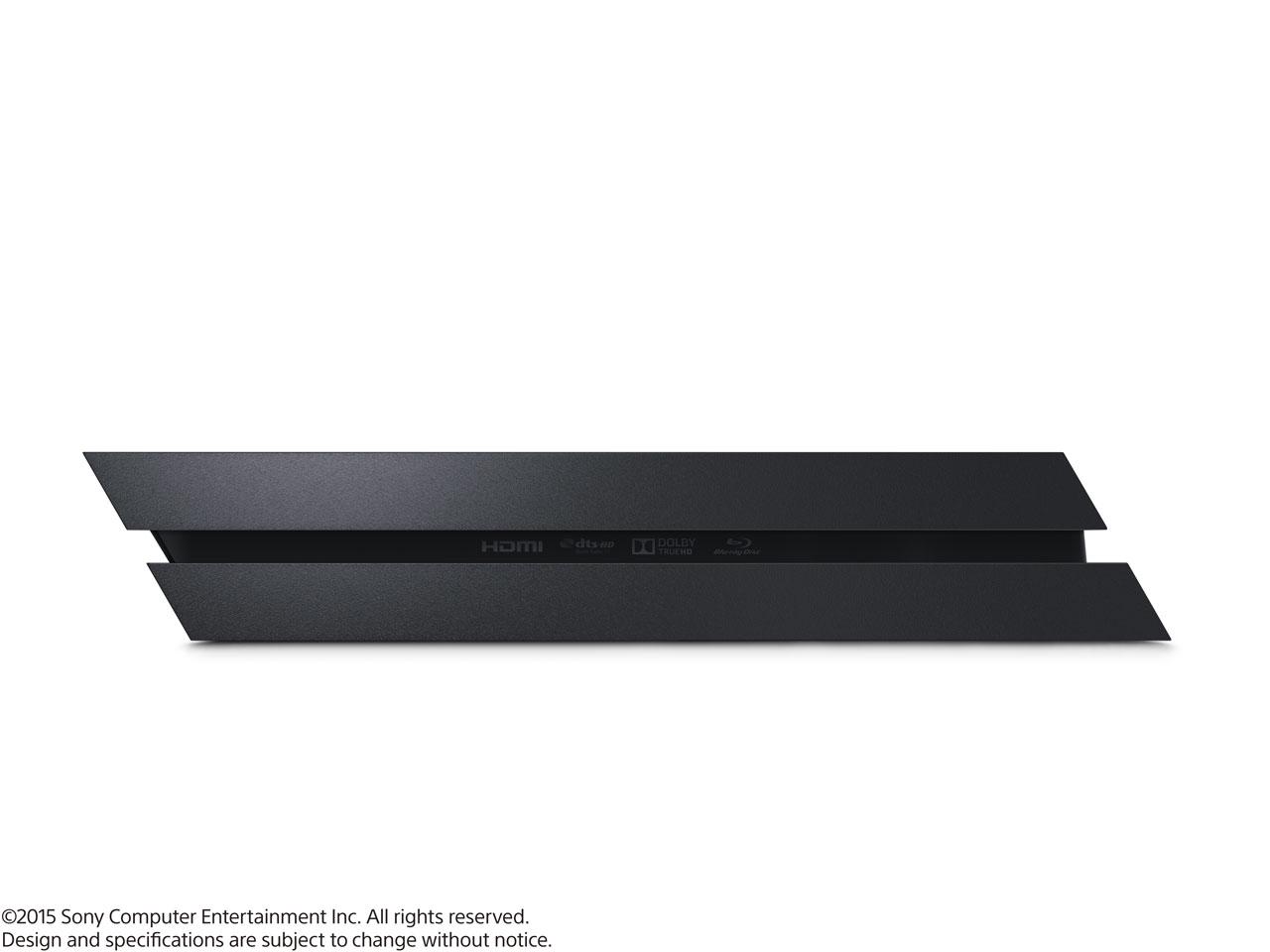 『本体 横置き 左側面』 プレイステーション4 HDD 500GB ジェット・ブラック CUH-1200AB01 の製品画像