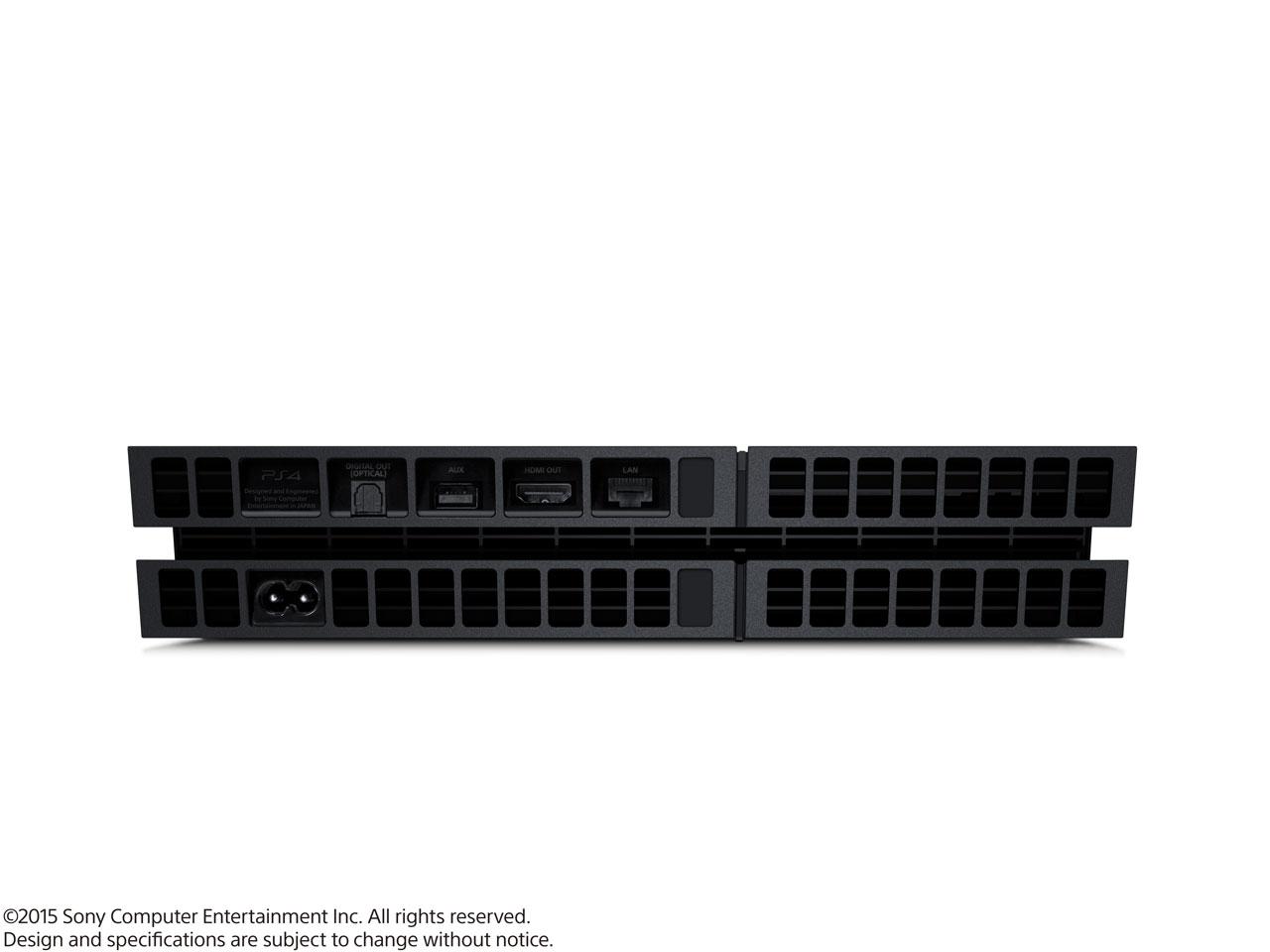 『本体 横置き 背面』 プレイステーション4 HDD 500GB ジェット・ブラック CUH-1200AB01 の製品画像