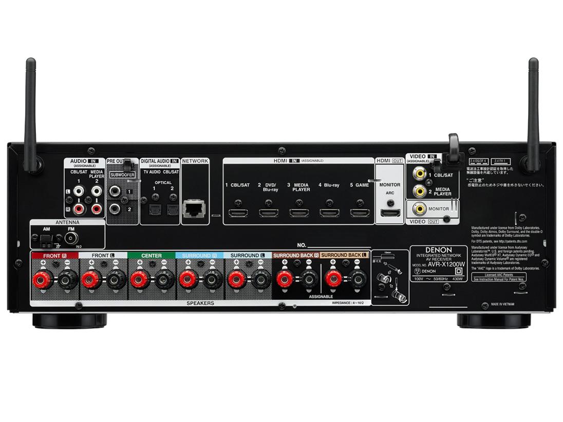 『本体 背面』 AVR-X1200W の製品画像