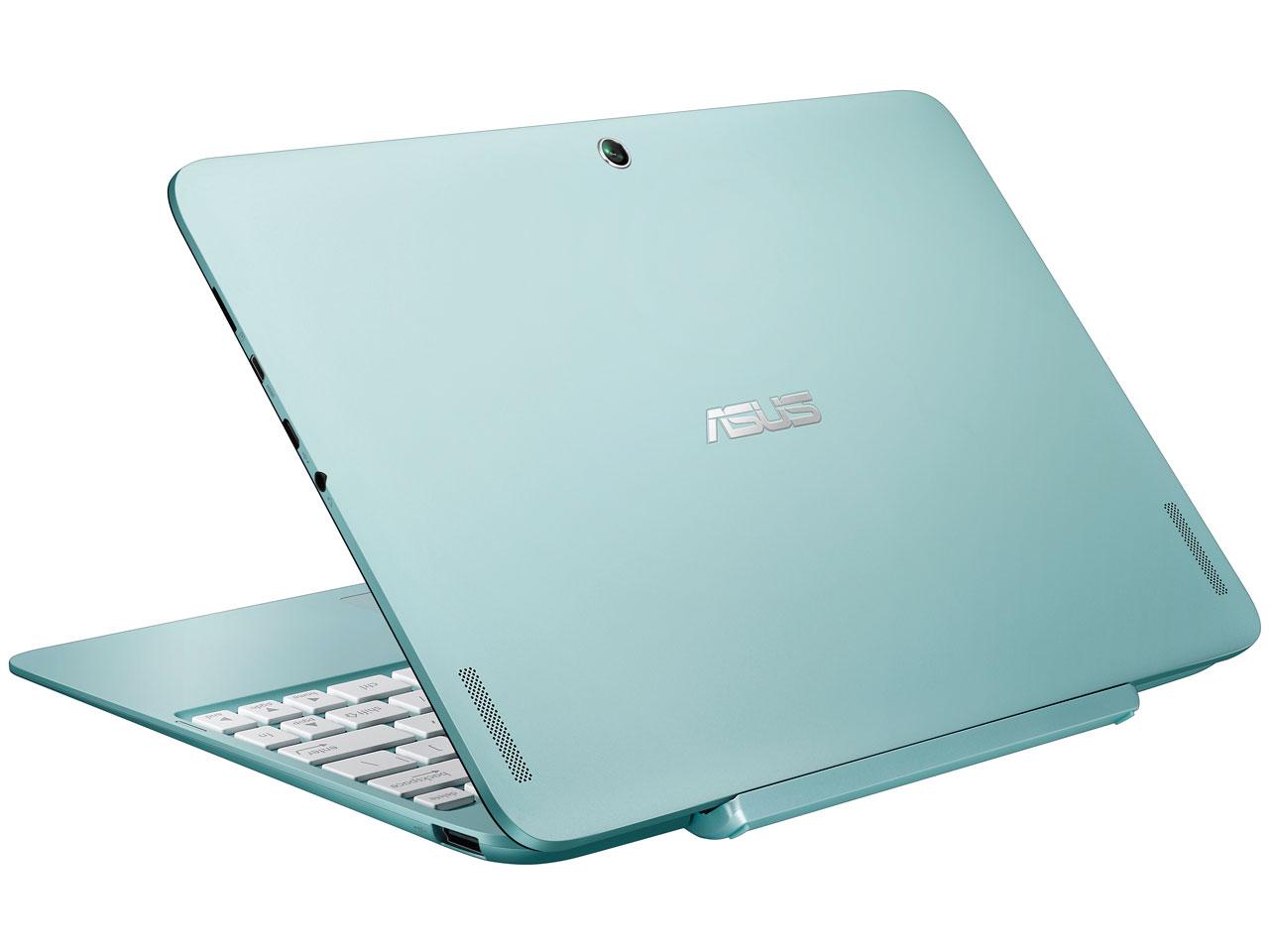 『本体 背面 斜め1』 ASUS TransBook T100HA T100HA-BLUE [アクアブルー] の製品画像