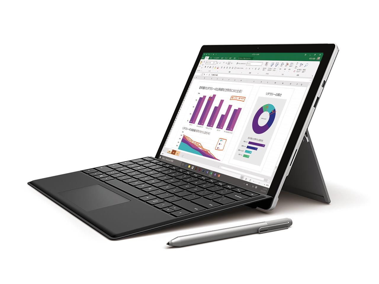 『本体 斜め』 Surface Pro 4 TH2-00014 の製品画像