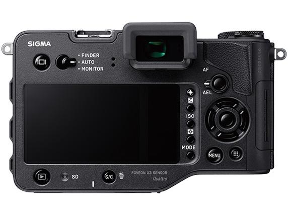 『本体 背面』 SIGMA sd Quattro H ボディ の製品画像