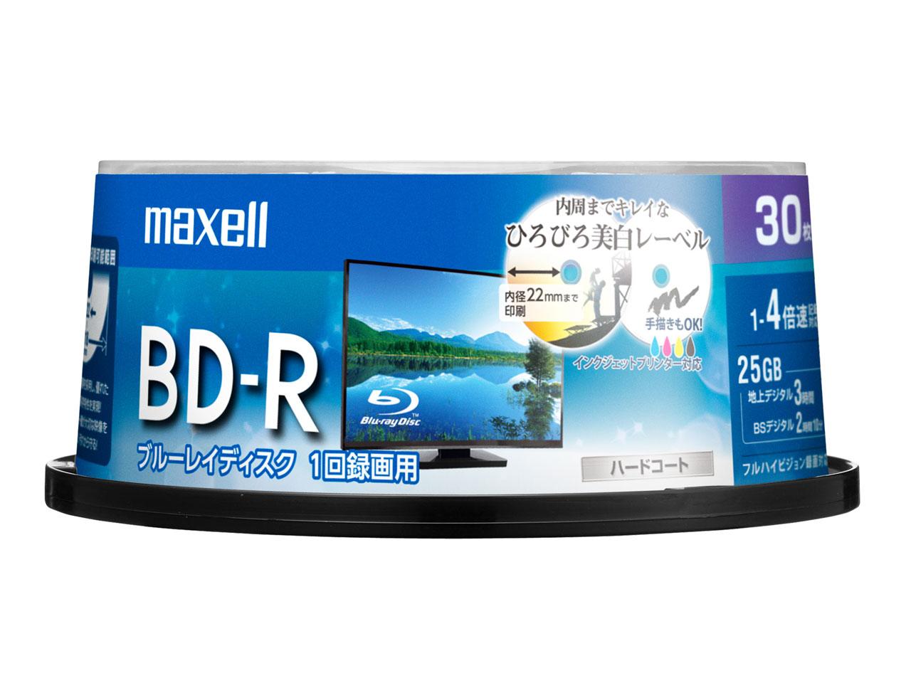 BRV25WPE.30SP [BD-R 4倍速 30枚組] の製品画像
