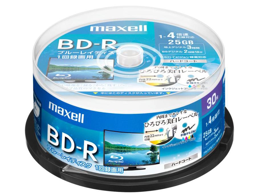 『パッケージ』 BRV25WPE.30SP [BD-R 4倍速 30枚組] の製品画像