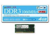 グリーンハウス GH-DWT1066-4GB (SODIMM DDR3 PC3-8500 4GB)
