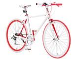 自転車の 大友商事 自転車 クロスバイク : Raychell+ R+707 HybridStyle [ホワイトx ...