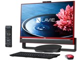 LAVIE Desk All-in-one DA770/BAR PC-DA770BAR [クランベリーレッド]