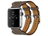 Apple Watch Hermes Series 2 38mm ダブルバックル・カフ MNTW2J/A [ヴォー・スウィフト(エトゥープ)レザーストラップ]