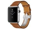 Apple Watch Hermes Series 2 42mm シンプルトゥールディプロイアントバックル MNUH2J/A [ヴォー・バレニア(フォーヴ)レザーストラップ]