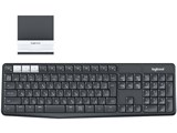 K370s Multi-Device Bluetooth Keyboard + Stand combo [ブラック/ホワイト]