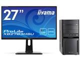 LUV MACHINES LM-iG440EN-SH2-P27W Core i5/8GBメモリ/240GB SSD+2TB HDD/GTX1050/27型液晶セットモデル