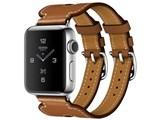 Apple Watch Hermes Series 2 38mm ダブルバックル・カフ MQ1P2J/A [ヴォー・バレニア(フォーヴ)レザーストラップ]