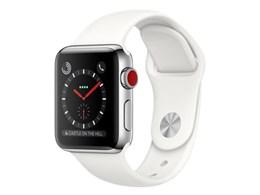 Apple Watch Series 3 GPS+Cellularモデル 38mm ステンレススチールケース/スポーツバンド
