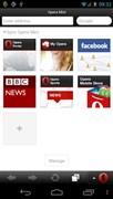『スクリーンショット1』 Opera Mini モバイル Web ブラウザのアプリ画像