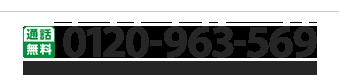 [通話無料]0120-963-569 10:00〜18:00(年末年始を除き年中無休)