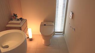 間接照明を導入したトイレ
