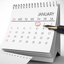 カレンダーなどに満期日を記録する