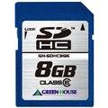 [GH-SDHC8G6] スピードクラス「Class6」対応のSLCチップ搭載SDHCカード(8GB) 。直販価格は15,800円