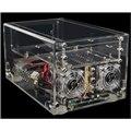 [ACRYLIC mini-ITX-CL] 150W電源や2基のLED搭載60mm冷却ファンを搭載したMini-ITXケース(透明クリア)