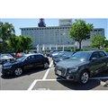 東京・芝公園の東京プリンスホテルの駐車場に並べられた、アウディオンデマンドに供される車両。