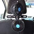 後部座席にしっかりエアコンの風を送る「ヘッドレスト固定式爆風ツインファン」