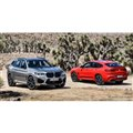 BMW X3M コンペティション(左)とBMW X4M コンペティション(右)