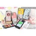 「ディズニーキャラクター Latootoo カード収納型 ミラー付きiPhoneケース」
