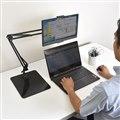 超安定モバイルディスプレイ&タブレットスプリングアームスタンド SSPTSASB
