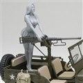 1/4トン 4×4 トラック(50口径 M2 機関銃装備)w/ブロンドガールズ フィギュア