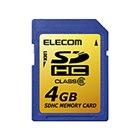 [MF-FSDH04GC6] SDスピードクラス「Class6」に対応したSDHCカード(4GB)。価格はオープン